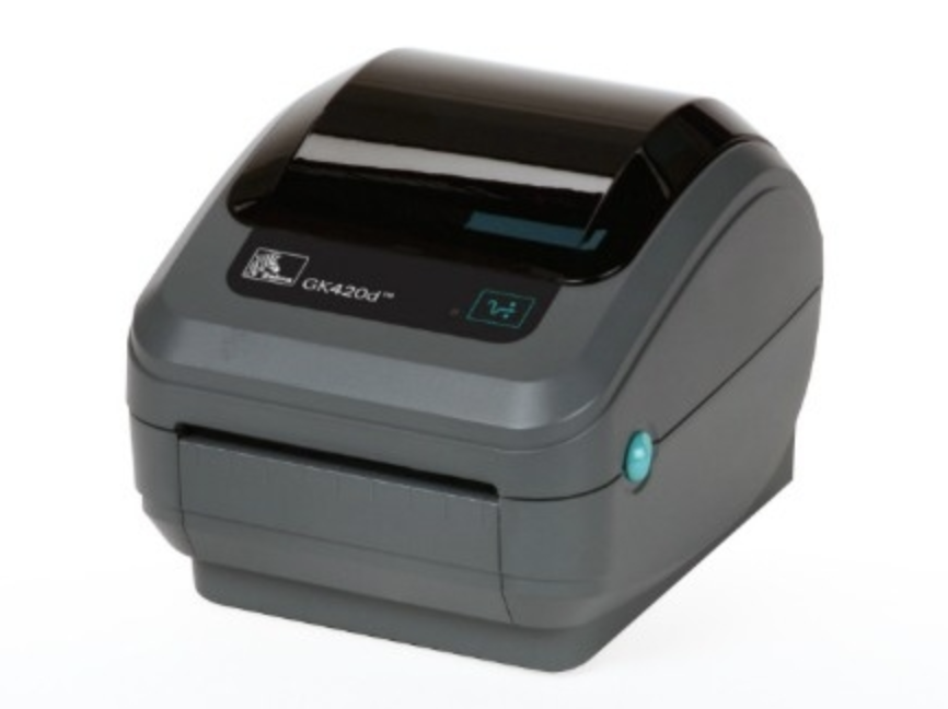 This is a photo of Priceless Zebra Gk420d Printing Extra Blank Labels